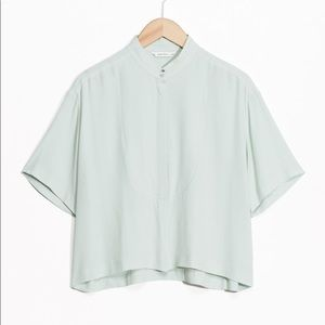 &Other Stories relaxed fit stand collar blouse